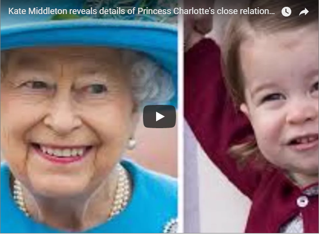 Kate Middleton reveals details of Princess Charlottes close relationship with the Queen