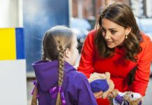 Kate Middleton spoke to children at Great Ormond Street hospital [Wenn]