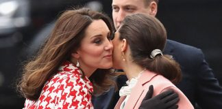 Kate and Princess Victoria share a warm embrace Photo C GETTY