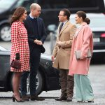 Kate and William greet Princess Victoria and Prince Daniel Photo C REUTERS