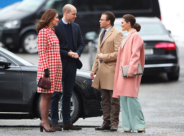 Kate and William arrived for their second day of a four-day Nordic tour Photo (C) PA
