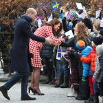 Kate and William greet well wishers Photo C REUTERS