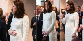 Kate showed off her blossoming baby bump Photo C WENN