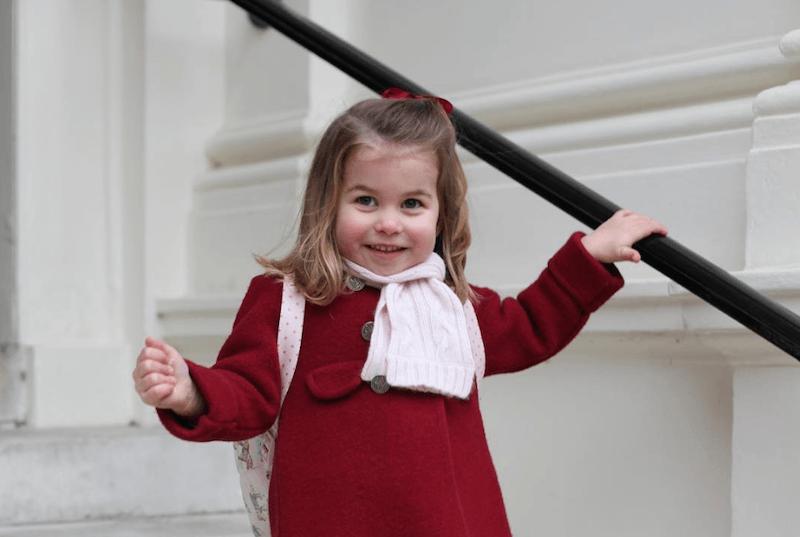 Princess Charlotte school Photo (C) KENSINGTON PALACE TWITTER
