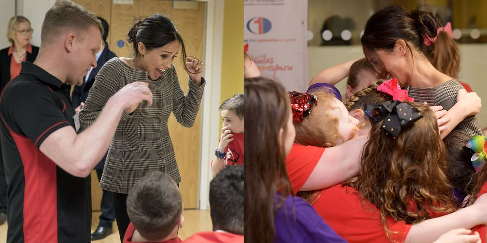Meghan Markle Hung Out with Children and Her Reactions Were Too Precious Photo (C) GETTY