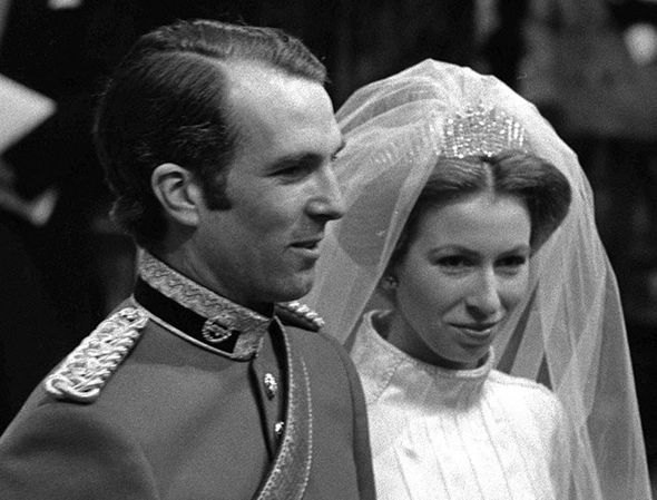Meghan Markle Princess Anne wore the Queen Mary fringe tiara at her wedding Photo (C) GETTY