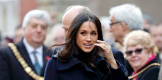 Meghan Markle also wore navy blue on a recent public engagement. Photo Getty Images