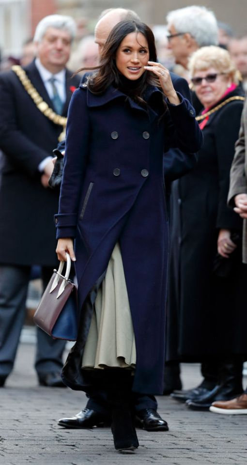 Meghan Markle also wore navy blue on a recent public engagement. (Photo Getty Images)