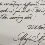 Meghan Markle and Prince Harry An analysis of Meghan's handwriting hints at her personality Photo C TWITTER MEGHAN MARKLE