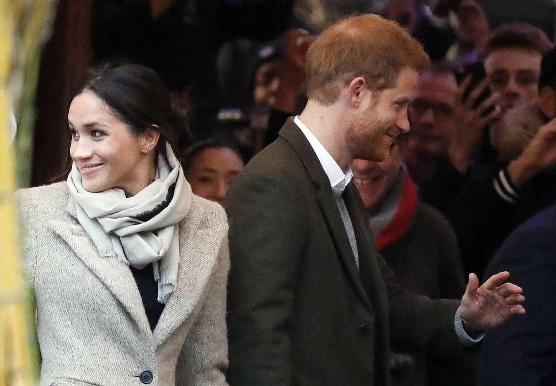 Britain Royals, London, United Kingdom - 09 Jan 2018 Meghan Markle and Prince HarryFrank Augstein/AP/REX/Shutterstock