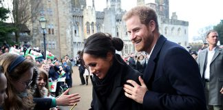 Meghan Markle delighted a royal fan during her visit to Cardiff - breaking royal protocol by doing so Photo (C) GETTY IMAGES