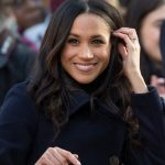 Meghan Markle has a tendency to play with her hair during public events Getty