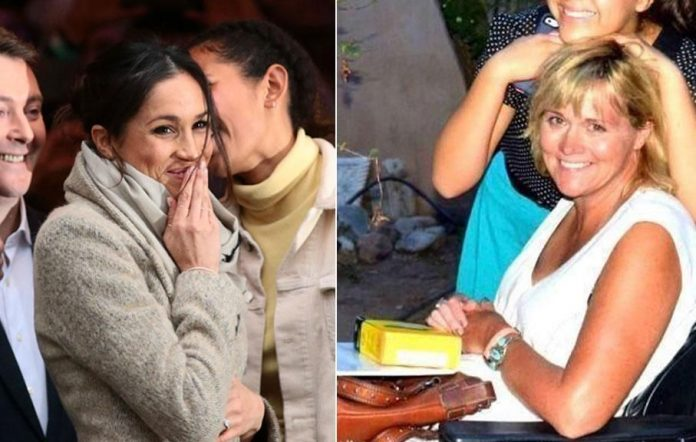 Meghan Markle's half-sister Samantha Grant (R) has asked for forgiveness. Source Getty (L) and GoFundMe (R)