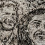 Nathan Wyburn used carpet stain remover to depict a portrait of Meghan and Harry Photo C PH