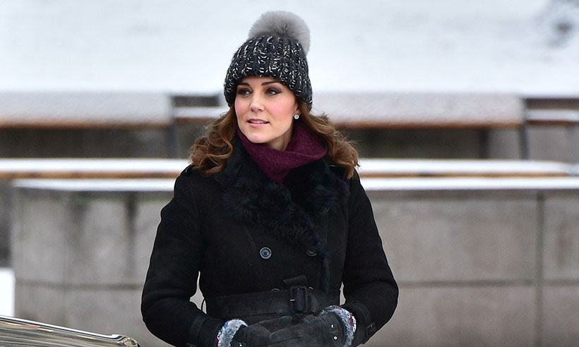 Palace responds to reports Duchess Kate wore real fur in Sweden Photo C GETTY