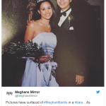Pictures have surfaced of MeghanMarkle in a tiara… As Homecoming Queen Photo C TWITTER