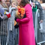 Pregnant Kate Middleton speaks to the crowds at Coventry Cathedral Wenn