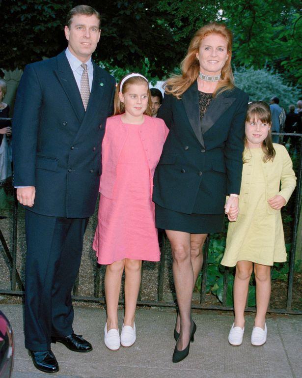 Prince Andrew Sarah Ferguson And The Princesses As Young Girls