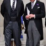 Prince Andrew, pictured left, with brother Prince Charles, pictured right, are famously competitive