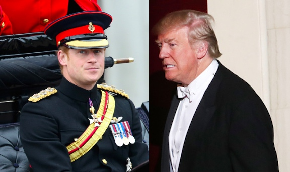 Prince Harry Donald Trump Photo (C) GETTY