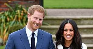 Prince Harry and Meghan Markle, pictured right, announced there's at Kensington Palace