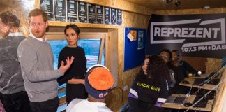 rince Harry and Meghan Markle visit Reprezent 107.3FM in Pop Brixton. Getty Images