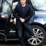 Prince Harry looked smart dressed in a crisp white shirt navy trousers and a blue jumper during his visit to Cardiff on Thursday Photo C GETTY IMAGES