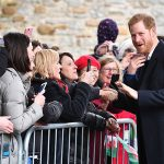 Prince Harry was pictured joking with members of the public as he spent time chatting to them outside Cardiff Castle in the centre of the capital on Thursday afternoon Photo C GETTY