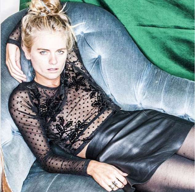 Prince Harry's ex Cressida Bonas poses in a see-through top and leather mini skirt Photo (C) INSTAGRAM