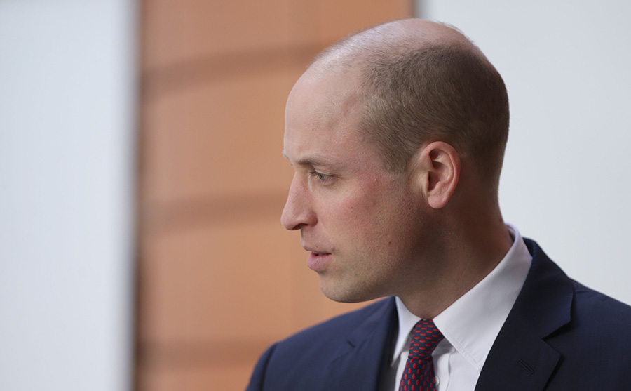 Prince William has previously poked fun at his receding hairline, telling hairstylist Taz Kabria I don't have much hair, I can't give you much business Photo (C) PA