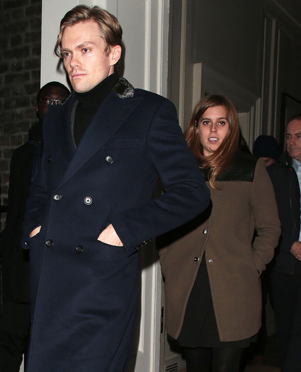 Princess Beatrice Royal was seen with a date on a night out with her sister and Jack Brooksbank Photo (C) GETTY