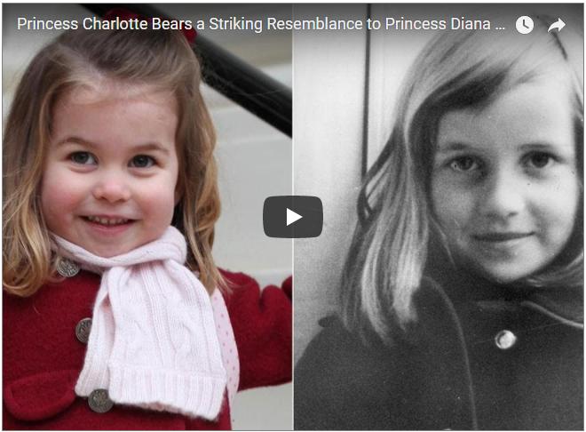 Princess Charlotte Bears a Striking Resemblance to Princess Diana in Childhood Photos