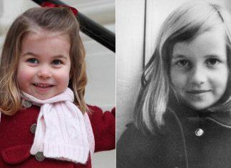 Princess Charlotte and Princess Diana Share Striking Similarities in Childhood Photos Photo (C) GETTY