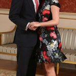 Princess Eugenie and Jack Brooksbank pictured left in the Picture Gallery at Buckingham Palace after announcing their engagement