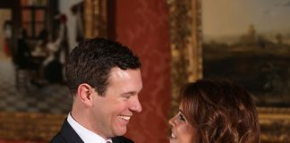 Princess Eugenie and Jack Brooksbank pose for official photos Photo (C) PA