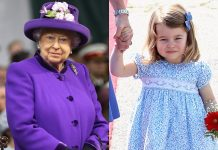 Queen Elizabeth II and Princess Charlotte. Chris Jackson, Getty Images