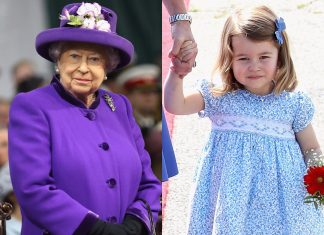 Queen Elizabeth II and Princess Charlotte.Chris Jackson, Getty Images