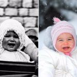Queen Elizabeth and Princess Charlotte have always looked alike. AP Images