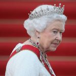 Queen Elizabeth wearing a tiara