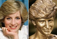 REMEMBERED The memorial was built soon after Diana died in 1997 Photo (C) GETTY