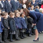 The Duchess of Cambridge meets pupils at the Reach Academy. Photo Getty Images