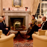 The Duke and Duchess with Crown Princess Victoria and Prince Daniel ahead of tonight's dinner at the Residence of the British Ambassador in Stockholm Photo (C) KENSINGTON ROYAL TWITTER
