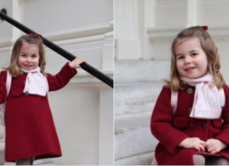 The Duke and Duchess of Cambridge are very pleased to share two photographs of Princess Charlotte at Kensington Palace this morning Photo (C) TWITTER