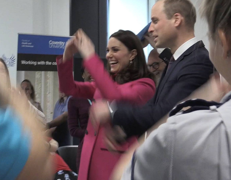 The Duke and Duchess of Cambridge visit Coventry Photo (C) GETTY