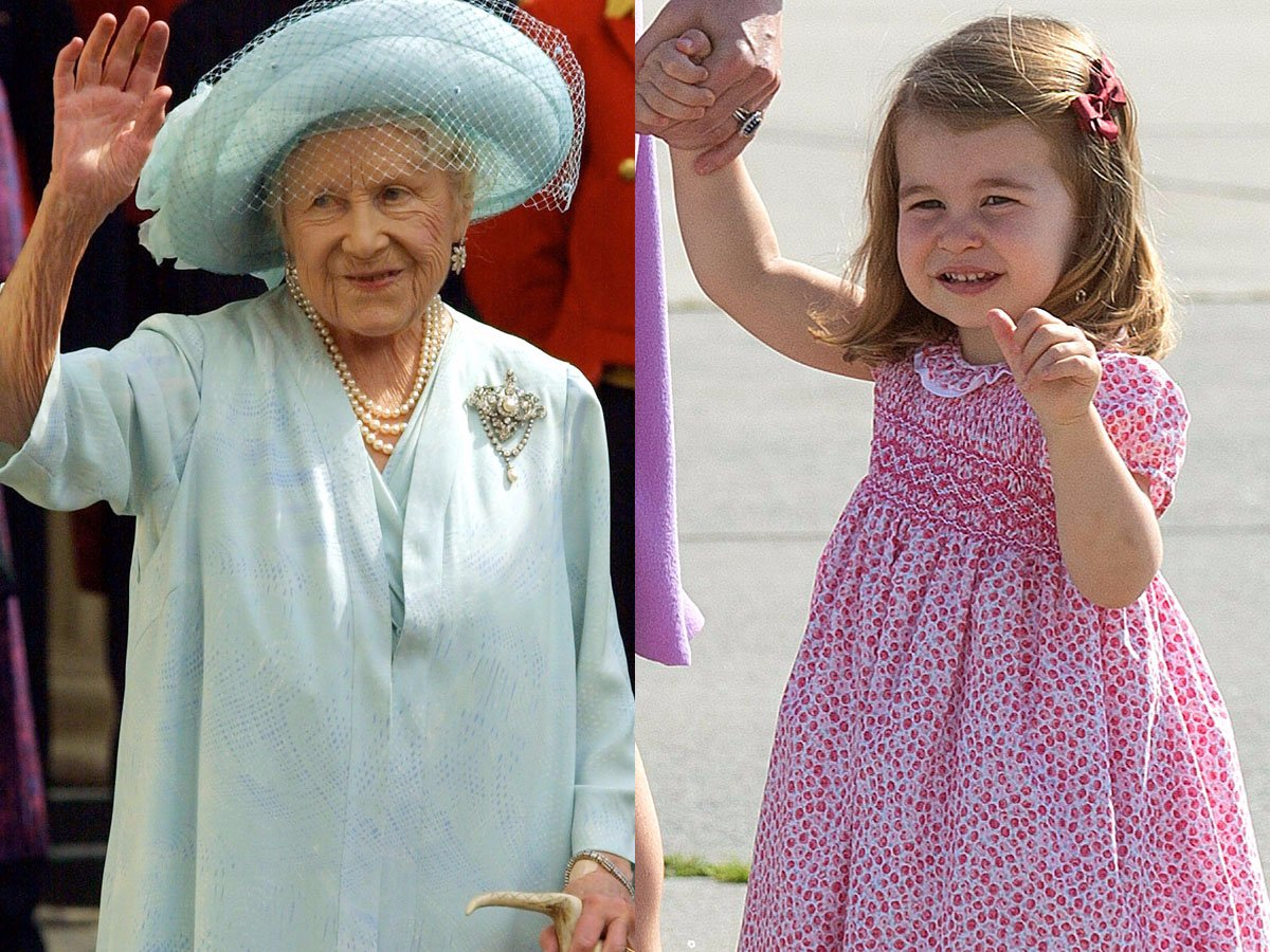 The Queen Mother and Princess Charlotte. Sion Touhig , Pool, Getty Images