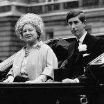 The Queen Mother filled the role of Prince Charles mum as the Queen carried out her duties Photo C GETTY