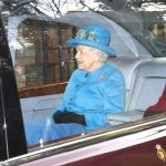 The Queen after attending St Mary Magdalene Church in Sandringham, Norfolk, for a Sunday morning service. PRESS ASSOCIATION Photo Aaron Chown, PA Wire