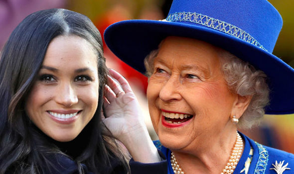 The Queen in hysterics at Christmas present from Meghan Markle Photo C GETTY