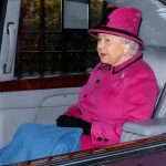 The Queen opted to arrive at the service in a car. Photo C Getty Images