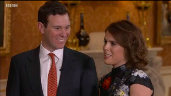 The Queen was very happy for newly-engaged Princess Eugenie and Jack Brooksbank Photo (C) GETTY